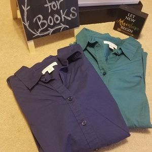 Bundle of 2 Coldwater Creek Ladies Dress Shirts L